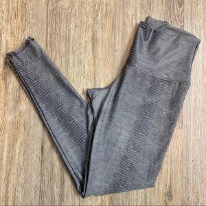 Light Grey Snakeskin Print Leggings